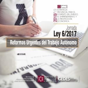 Jornada Ley 6/2017 Reformas Urgentes del trabajo Autónomo - Burriana
