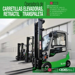 Operador/a de carretillas elevadoras, retráctil y transpaleta - Chilches