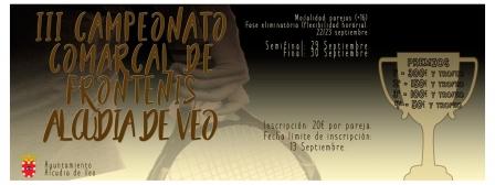 III Campeonato Comarcal de Frontenis Alcudia de Veo