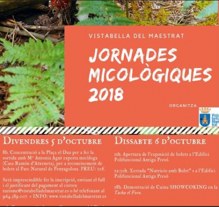 Jornades Micològiques 2018 Vistabella del Maestrat