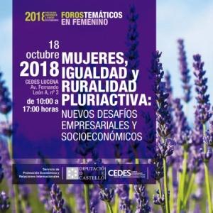 Mujeres Igualdad y Ruralidad pluriactiva; Desafíos Empresariales y Socioeconómicos - Lucena