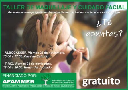 TALLER DE MAQUILLAJE Y CUIDADO FACIAL