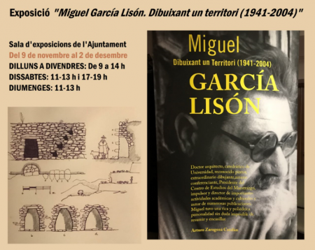 "EXPOSICIÓN ""MIGUEL GARCÍA LISÓN. DIBUJANDO UN TERRITORIO (1941-2004)"""