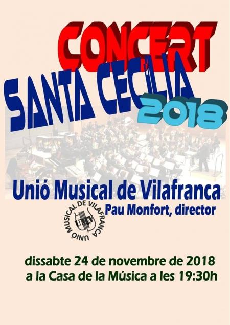 CONCIERTO EXTRAORDINARIO DE SANTA CECILIA 2018 DE LA UNIÓN MUSICAL DE VILAFRANCA