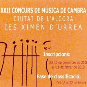 XXII CONCURS DE MÚSICA DE CAMBRA CIUTAT DE L'ALCORA