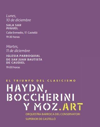 """""""El triomf del Classicisme: Haydn, Boccherini y Mozart"""""""