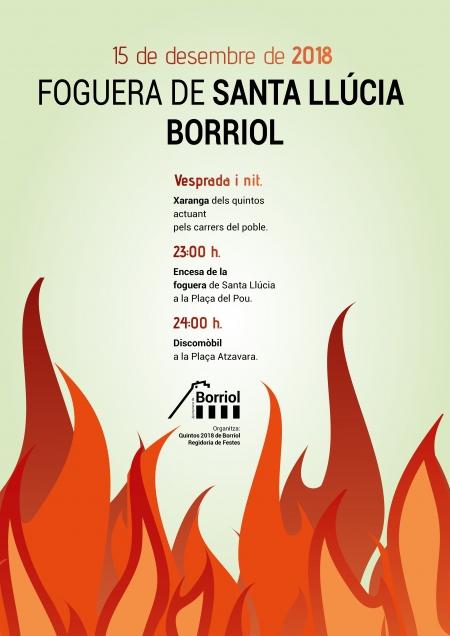 FOGUERA DE SANTA LLÚCIA 2018