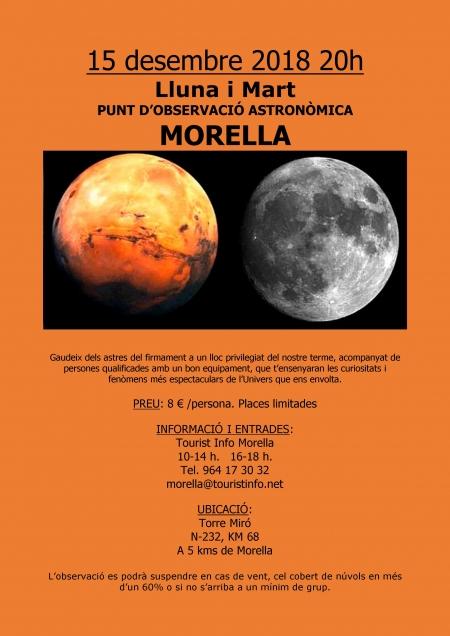 Observació de la lluna i Mart