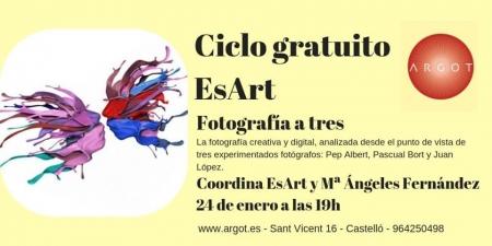 Fotografía a tres. Ciclo fotográfico EsArt