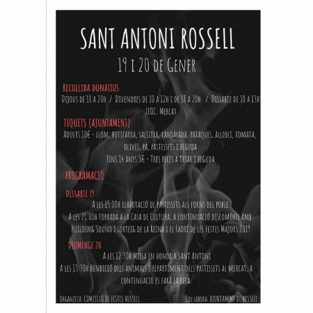 Programa d'actes de Sant Antoni 2019 (Rosell)