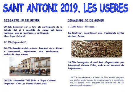 FESTIVITAT DE SANT ANTONI ABAT (LES USERES)