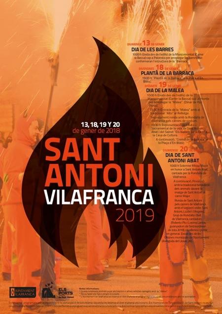 """""""La Publicata"""", festa en honor a Sant Antoni Abat 2019 (Vilafranca)"""