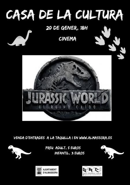"CINEMA FAMILIAR: ""Jurassic World, el regne caigut"""