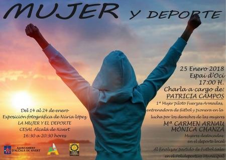 """Exposición fotográfica de Núria López """"La Mujer y el Deporte""""."""