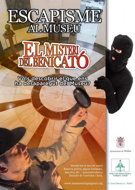 """Actividad lúdico-cultural:  L' Escapisme """"El misteri del Benicató"""""""