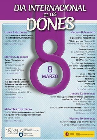 Actividades en torno al Día Internacional de la Mujer (Peñíscola)