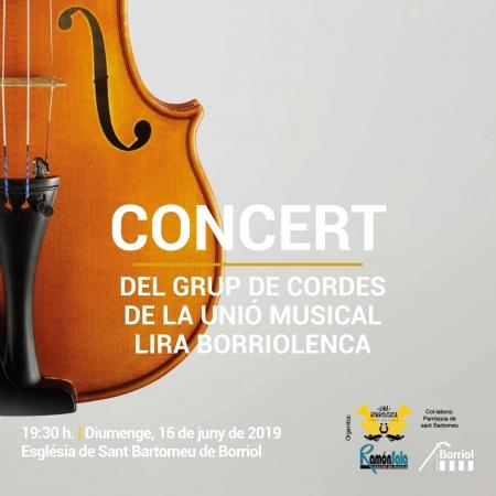Concierto del grupo de cuerdas de la unión musical libra Borriolenca.