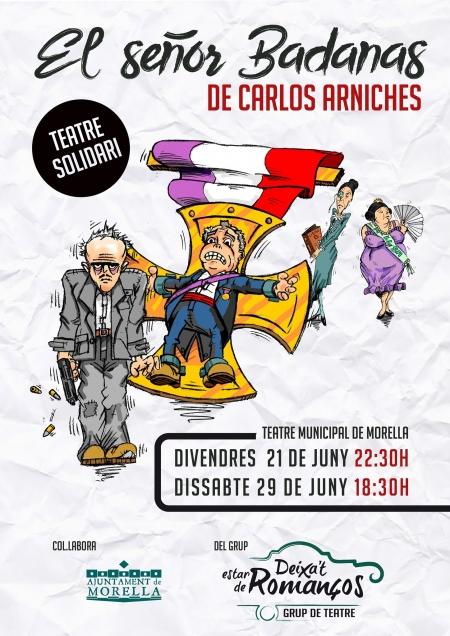 """Teatro solidario """"El señor Badanas"""" de Carlos Arniches."""