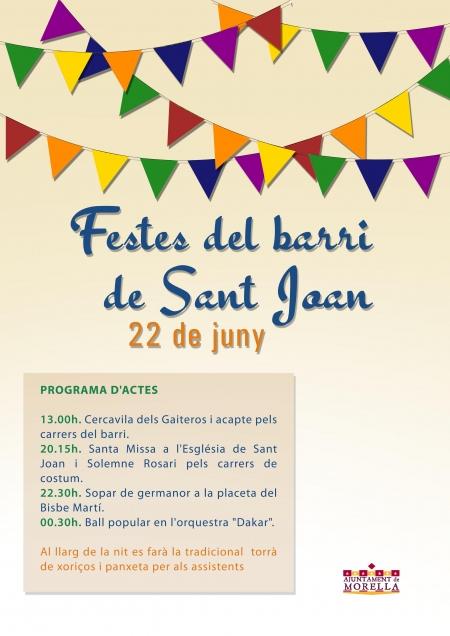 Fiestas del barrio de San Juan, en Morella.