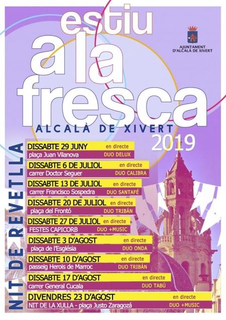 """Concerts """"Estiu a la fresca"""" a Alcalà de Xivert"""