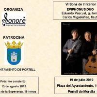 Epiphonus Duo actuarà el 19 de juliol en Portell.