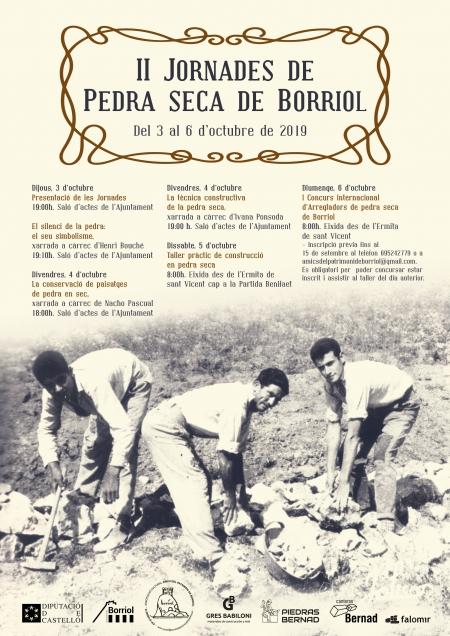 II JORNADAS DE PIEDRA SECA DE BORRIOL