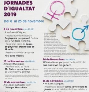 """Jornades per la igualtat: Teatre """"Me quiere no me hiere"""" - Morella"""