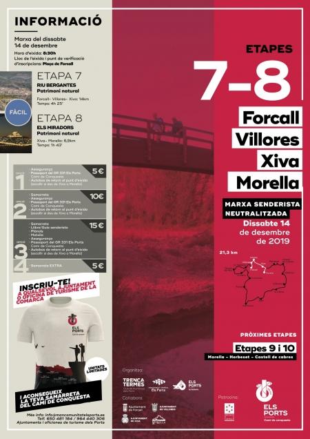 Etapes 7 i 8: Forcall- Villores- Xiva- Morella