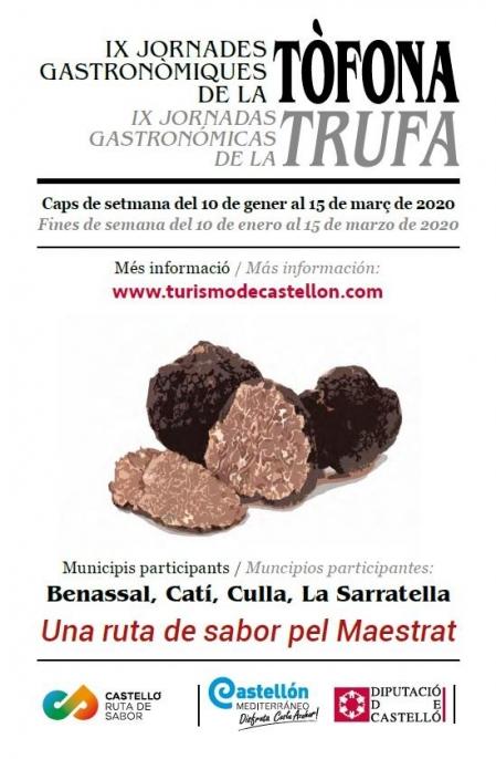 """""""IX Jornades Gastronòmiques de la Tòfona"""" - Benassal, Catí, Culla y la Serratella."""
