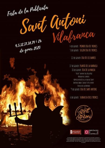 Fiesta de la Publicata en honor en Sant Antoni 2020 - Villafranaca