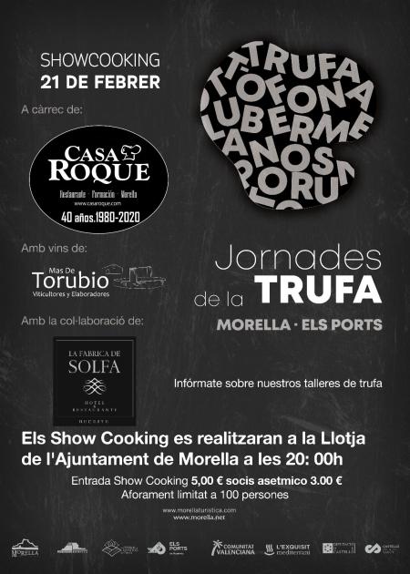 Showcookingde les Jornades de la Trufa - Morella