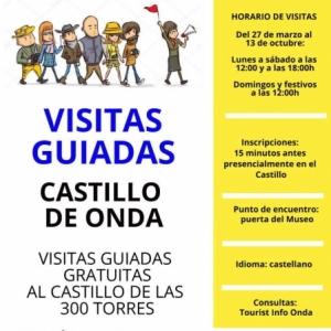 Onda: Visitas guiadas al Castillo de las 300 Torres