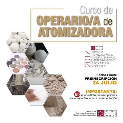 Curso de OPERARIO/A de ATOMIZADORA - Vall d'Alba