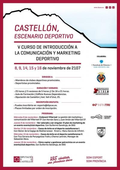 V curs de comunicació i màrqueting esportiu (Castelló)