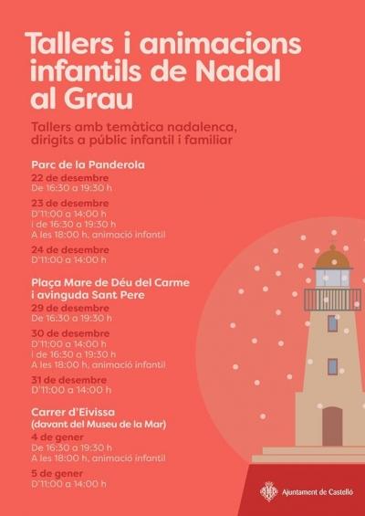 Tallers i Animació Infantil de Nadal en el Grau (Castelló)