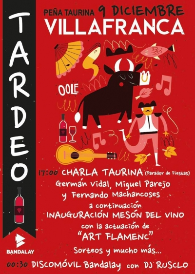 """""""Tardeo"""" con la Peña Taurina de Vilafranca"""