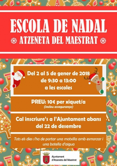 Escuela de Navidad (Atzeneta del Maestrat)