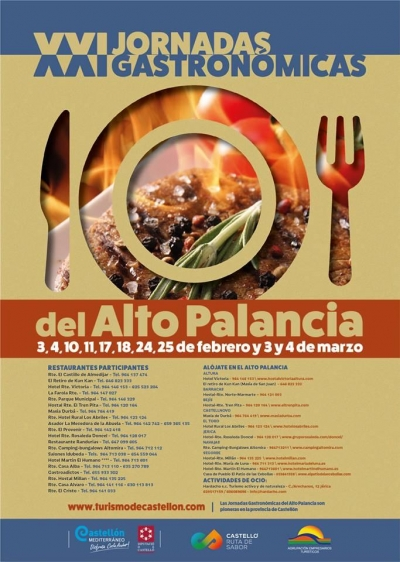 XXI Jornadas Gastronómicas del Alto Palancia