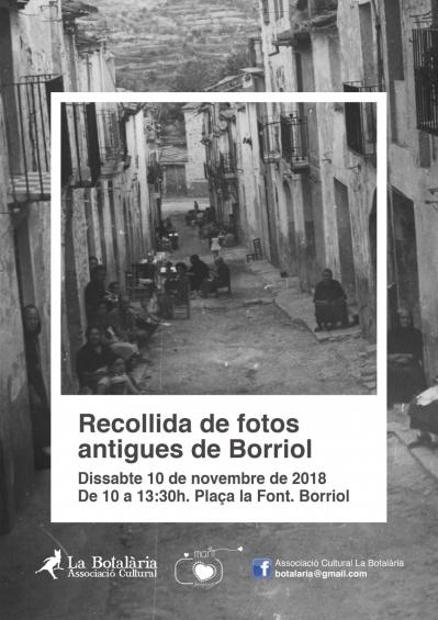 RECOGIDA DE FOTOS ANTIGUAS EN BORRIOL