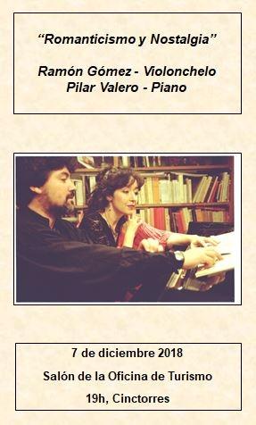"""Concierto de Violonchelo y Piano """"Romanticismo y nostalgia"""""""