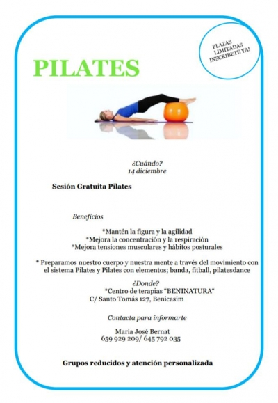 CLASE GRATUITA DE PILATES