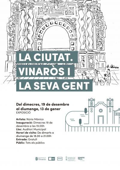 "Exposición pinturas ""La ciutat. Vinaròs i la seva gent"", de Núria Mónico"