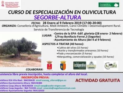 CURS D'ESPECIALITZACIÓ EN OLIVICULTURA