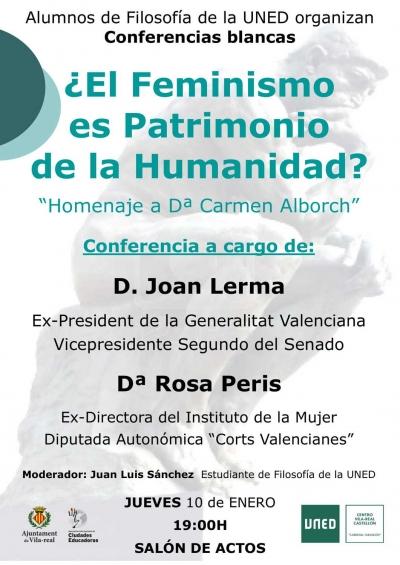 Comferències Blanques: El feminisme és Patrimoni de la Humanitat?