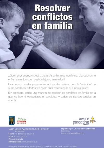 Taller gratuito 'Resolver conflictos en familia'