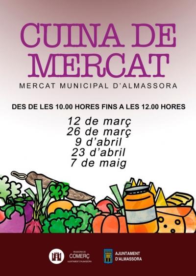 Clases de cocina en el Mercado Central (Almassora)