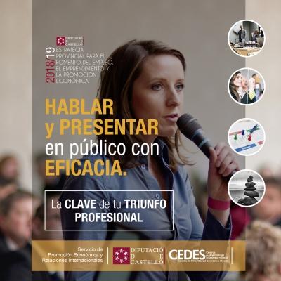 Curso: Hablar y Presentar en público con Eficacia, la clave de tu triunfo profesional - Cabanes