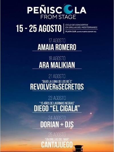 Peñíscola from Stage - Festival de Música a orillas del Mediterráneo