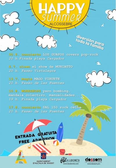 """Activitats estiuenques """"Happy Summer"""" a Alcossebre"""