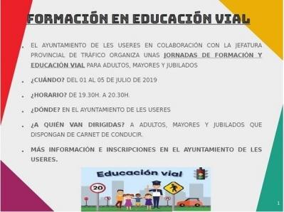 JORNADAS DE FORMACIÓN Y EDUCACIÓN VIAL DE LES USERES